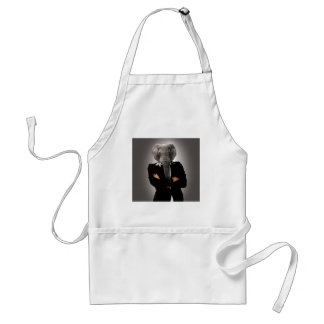 Concept image of a businesswoman. standard apron