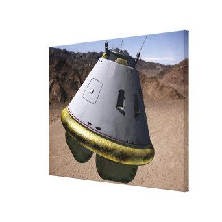 Concept of a crew exploration vehicle canvas print