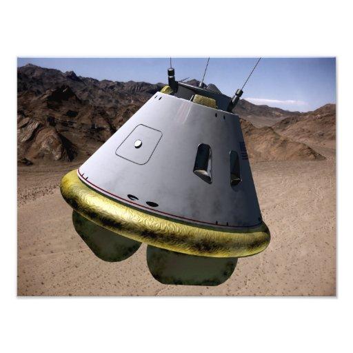 Concept of a crew exploration vehicle photographic print