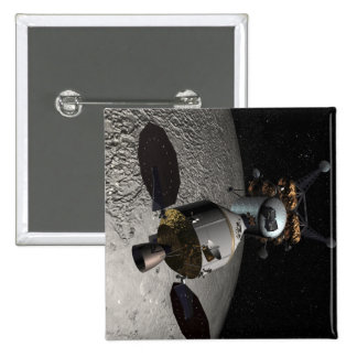 Concept of the Orion crew exploration vehicle 15 Cm Square Badge