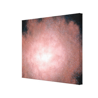 Concept of what a dusty and bright galaxy canvas print