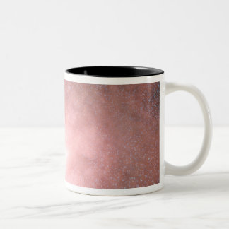 Concept of what a dusty and bright galaxy Two-Tone coffee mug