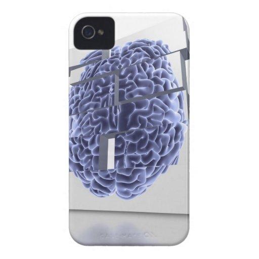 Conceptual computer artwork of building blocks iPhone 4 case