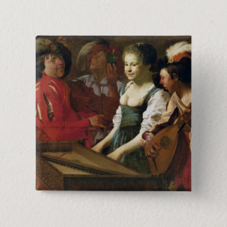 Concert, 1626 15 cm square badge