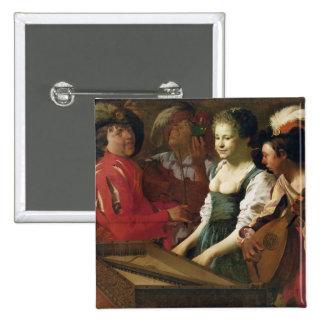 Concert, 1626 15 cm square badge