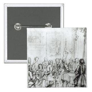 Concert at Montague House, 1736 15 Cm Square Badge