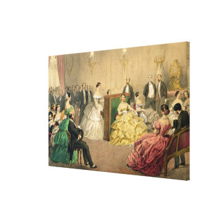 Concert at the Chausee d'Antin' Canvas Print