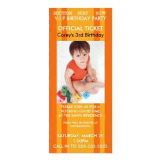 Concert Birthday 10 Cm X 24 Cm Invitation Card