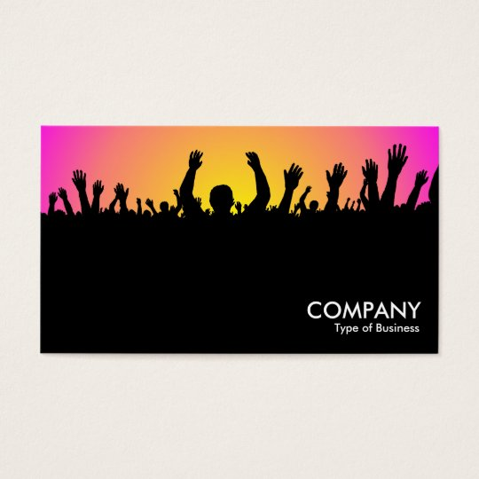 Concert - Black, Yellow & Magenta Business Card