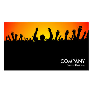 Concert - Black, Yellow & Red Business Card