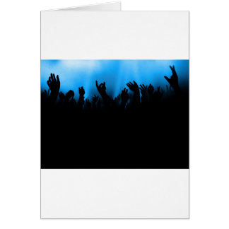 Concert Crowd Greeting Card