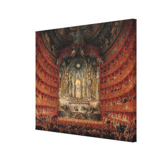 Concert given by Cardinal de La Rochefoucauld Canvas Print