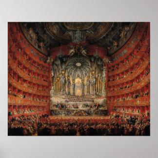 Concert given by Cardinal de La Rochefoucauld Poster