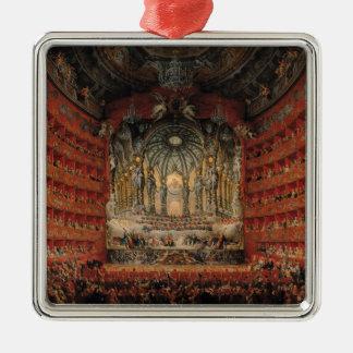 Concert given by Cardinal de La Rochefoucauld Silver-Colored Square Decoration