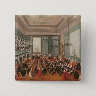 Concert given by the girls of the hospital 15 cm square badge