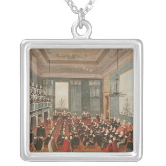 Concert given by the girls of the hospital silver plated necklace