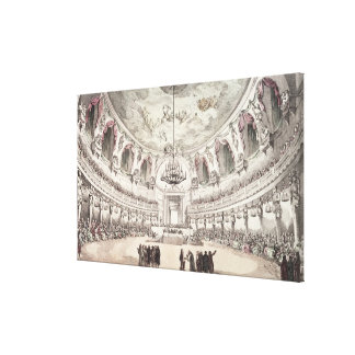 Concert Hall in Venice, 18th century (coloured eng Canvas Print