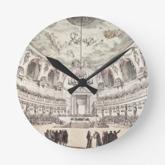 Concert Hall in Venice, 18th century (coloured eng Round Clock