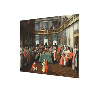 Concert in a Private House Stretched Canvas Print