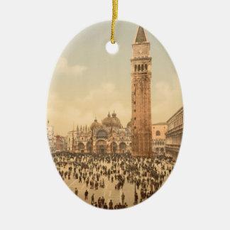 Concert in St Mark's Square II, Venice, Italy Ceramic Oval Decoration