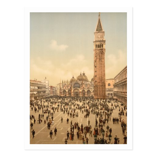 Concert in St Mark's Square II, Venice, Italy Post Card