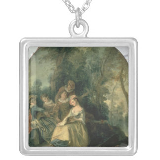 Concert in the Park, 1725 Square Pendant Necklace