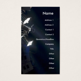 Concert lights Business Card Vertical