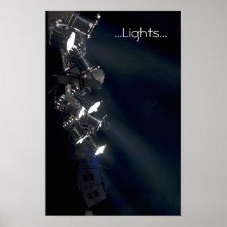 concert lights music color poster