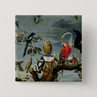 Concert of Birds 15 Cm Square Badge