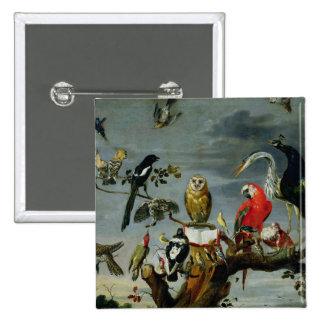 Concert of Birds 15 Cm Square Badge