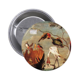Concert of Birds by Frans Snyders 6 Cm Round Badge