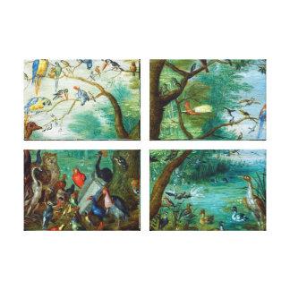 Concert of Birds Canvas Prints