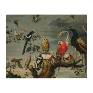 Concert of Birds Wood Print