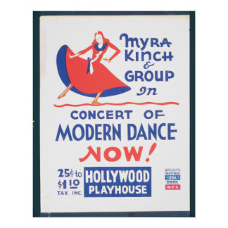 Concert of Modern Dance WPA Print