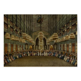 Concert of the royal band in the auditorium card