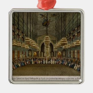 Concert of the royal band in the auditorium Silver-Colored square decoration