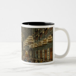 Concert of the royal band in the auditorium Two-Tone coffee mug