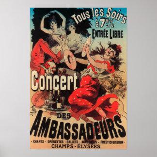 Concert Poster on Avenue de Champs-Elysees