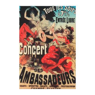 Concert Poster on Avenue de Champs-Elysees Canvas Print