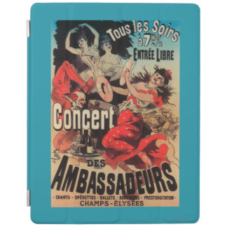 Concert Poster on Avenue de Champs-Elysees iPad Cover