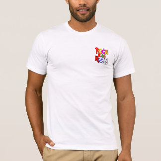 Concert Style Design Front Pocket and Back (White) T-Shirt