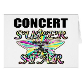 Concert Superstar Greeting Card