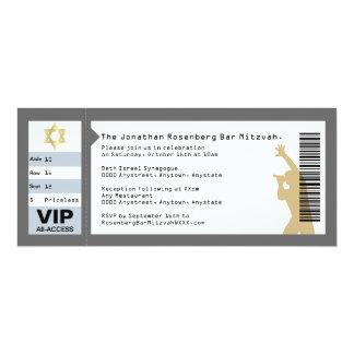 Concert Ticket Bar Mitzvah Invitation in Gray