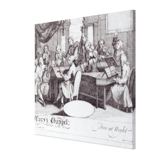 Concert Ticket for Mary's Chapel Canvas Print