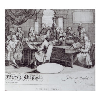 Concert Ticket for Mary's Chapel Poster