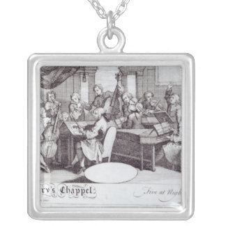 Concert Ticket for Mary's Chapel Silver Plated Necklace
