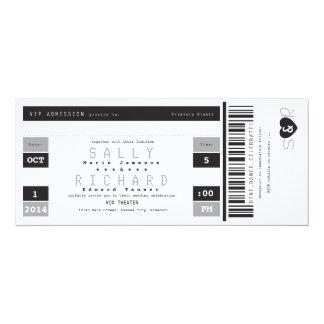 Concert Ticket Invitation Black White and Gray