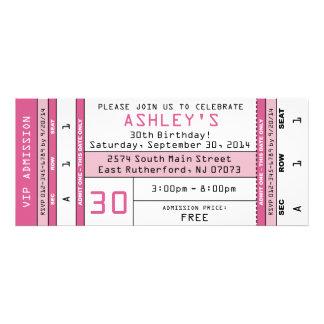 Concert Ticket Invitation Pink