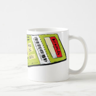 Concert Ticket Coffee Mugs