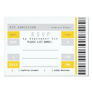 Concert Ticket Stub RSVP 9 Cm X 13 Cm Invitation Card